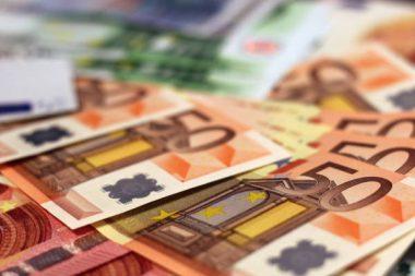 Geldscheine Euro Konto