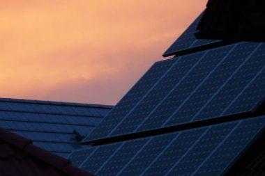 Solarzellen Haus Dach