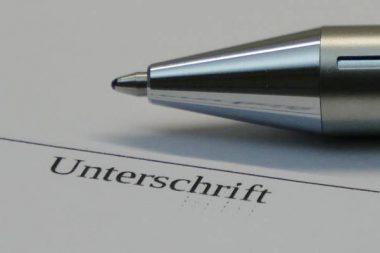 Unterschrift Stift