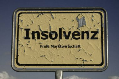 Insolvenz Schild Marktwirtschaft