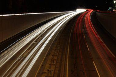 Autobahn LKW Nacht