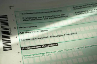 Steuererklärung Formular
