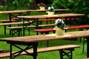 Gartenfest Betriebsfeier Steuern