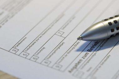 Vordruck Formular Personenbezeichnungen