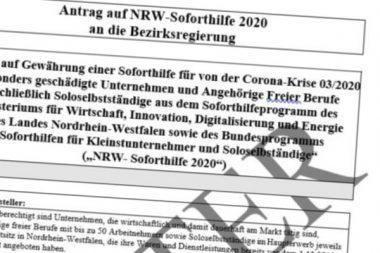 Muster-Antrag NRW-Soforthilfen