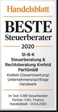 Handelsblatt Beste Steuerberater 2020